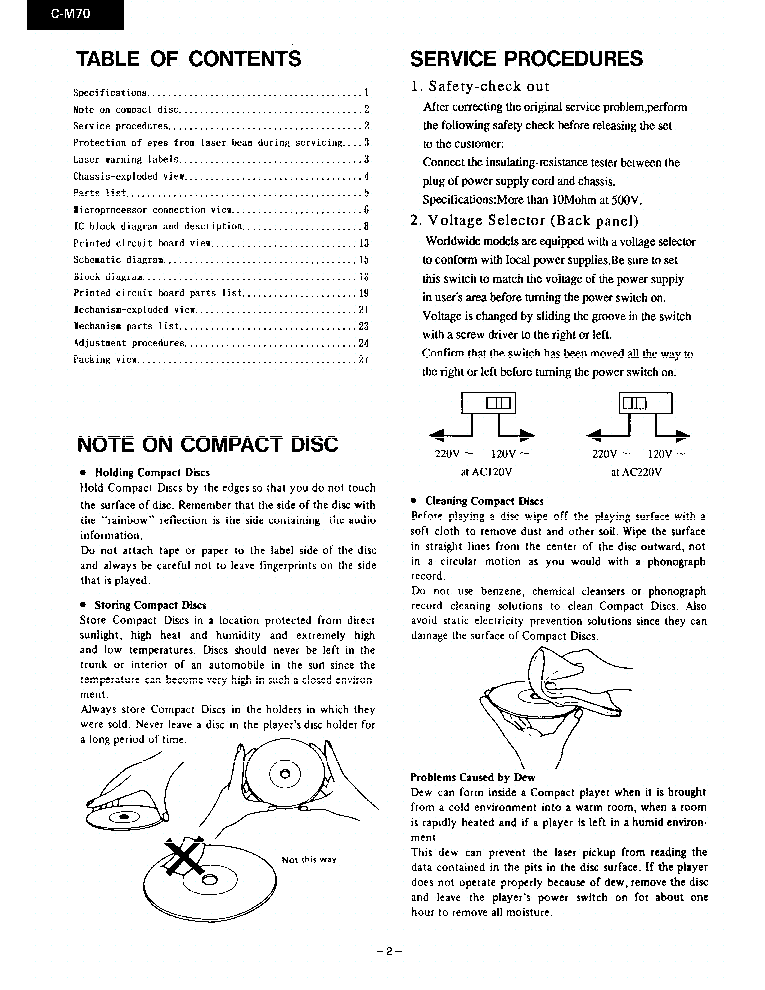 ONKYO C-M-70 service manual (2nd page)
