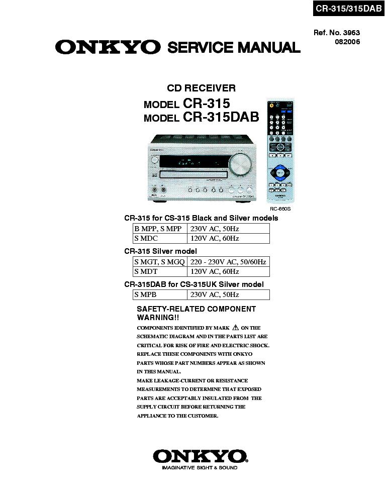 onkyo cr 315 service manual download schematics eeprom repair rh elektrotanya com onkyo cs 315 review