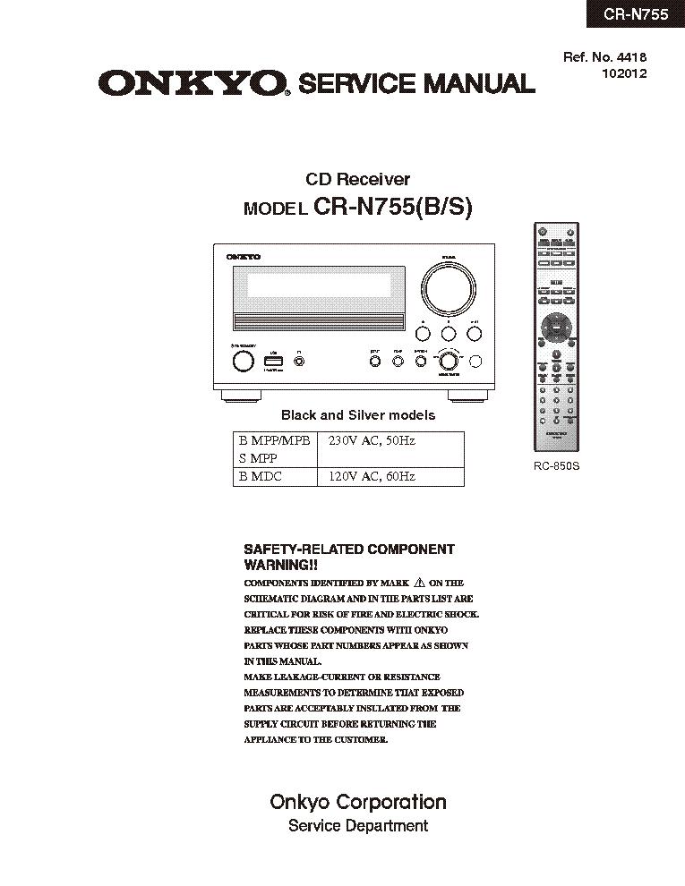 onkyo cr n755 sm service manual download schematics eeprom repair rh elektrotanya com onkyo cs-n755 manual onkyo cs-n755 review