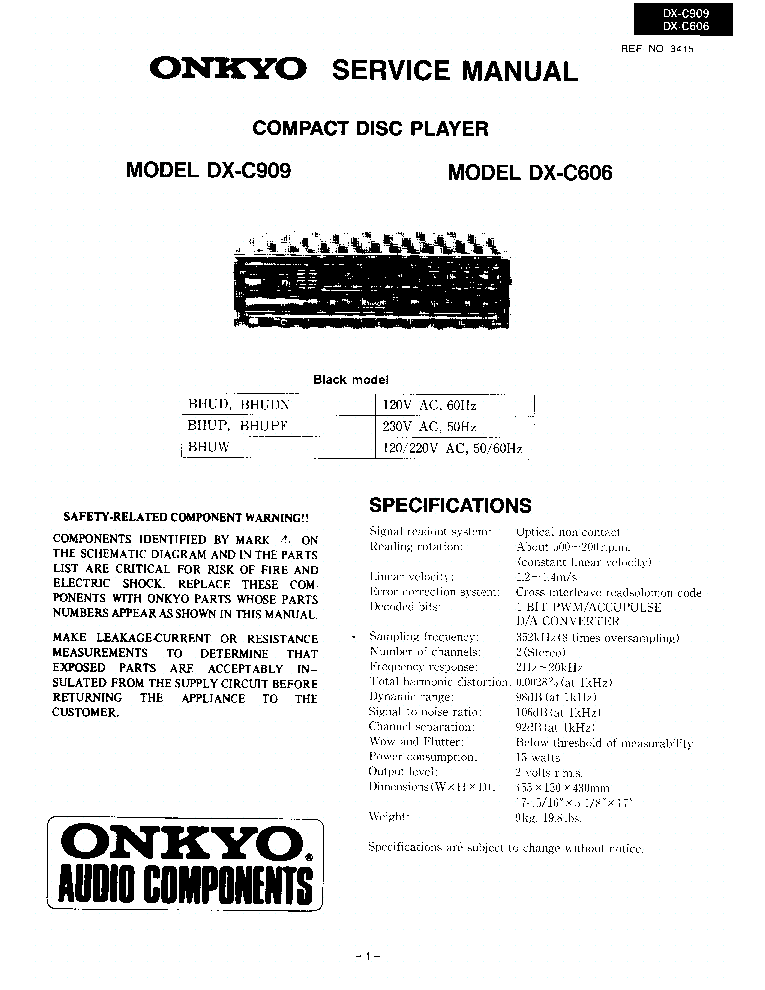 onkyo_dx c606_c909_sm.pdf_1 onkyo dx c606 c909 sm service manual download, schematics, eeprom  at nearapp.co