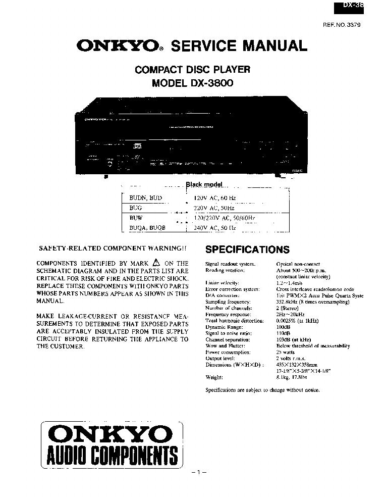 Onkyo Dx 2800 Service Manual Download