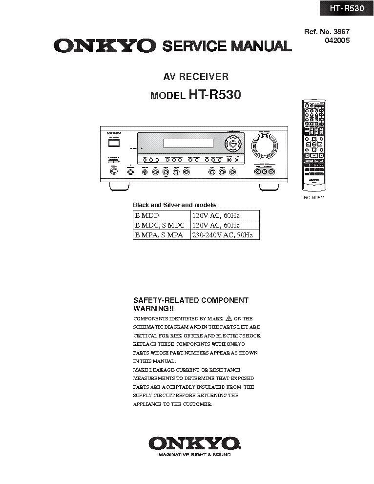 onkyo_ht r530_preliminary_sm.pdf_1 onkyo tx sr608 b s g rev 5 sm service manual download, schematics  at gsmx.co