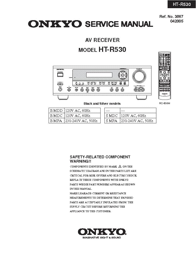 onkyo ht-r530 manual pdf