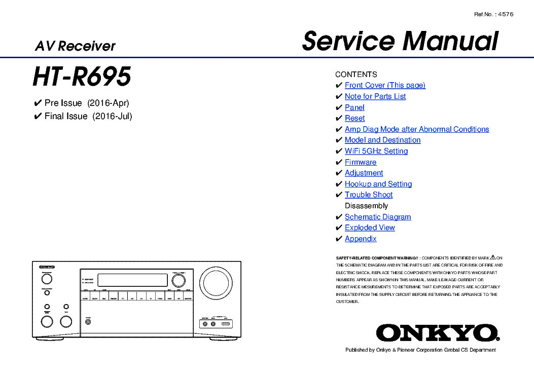 onkyo_ht r695.pdf_1 onkyo tx nr626 rev1 service manual download, schematics, eeprom  at nearapp.co