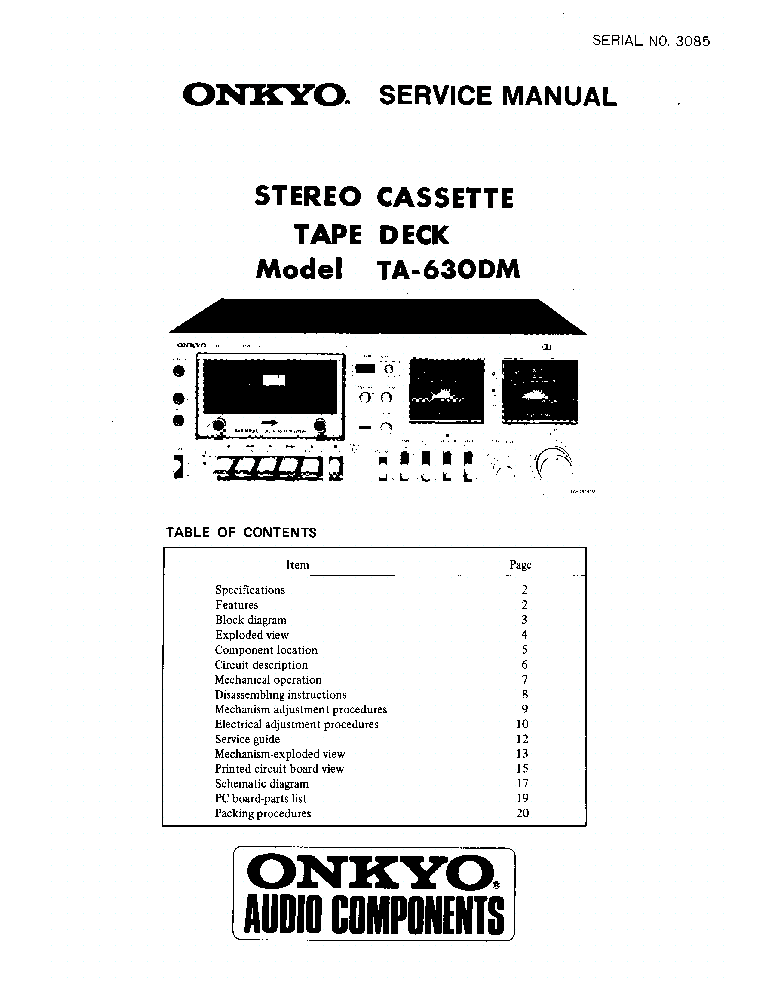 ONKYO TA-630M-SM-TAPE-DECK service manual