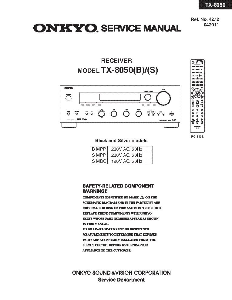 инструкция onkyo tx 8050