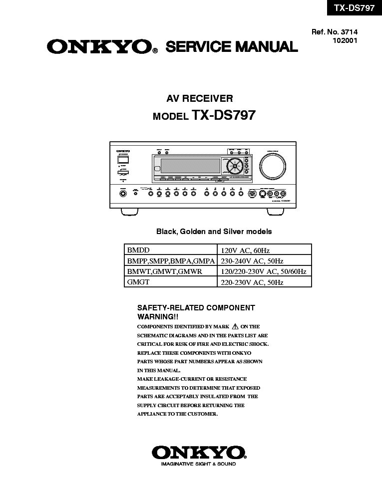 onkyo tx 8511 service manual