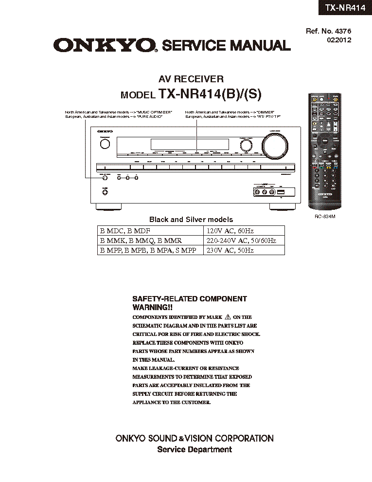 onkyo tx nr414 service manual download schematics eeprom repair rh elektrotanya com Onkyo Receivers Onkyo TX Nr707 Pictures