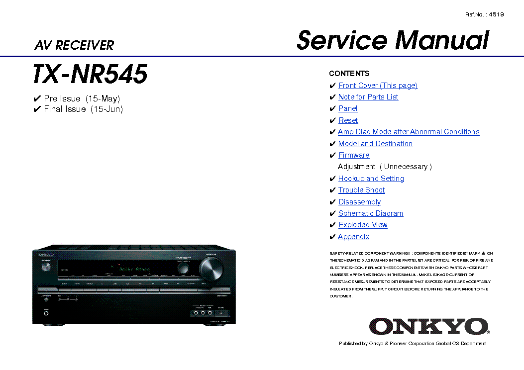 onkyo a 8087 service manual download schematics eeprom repair rh elektrotanya com onkyo tx-nr515 service manual onkyo tx-nr515 user manual