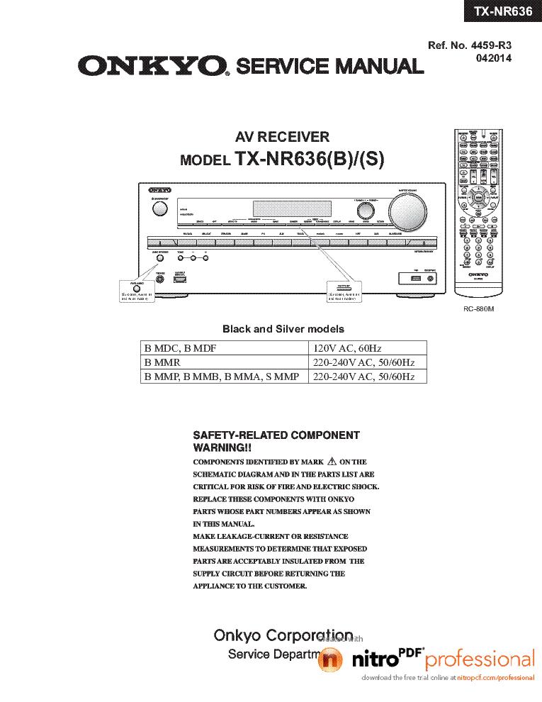 ONKYO TX-NR636 Service Manual download, schematics, eeprom, repair