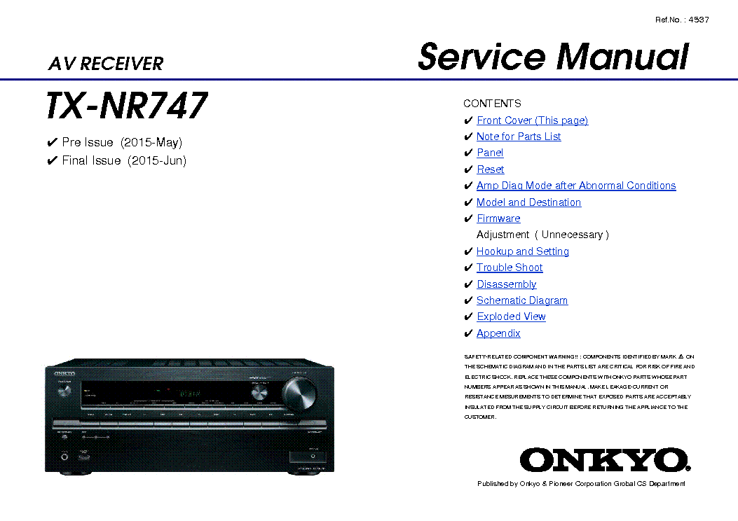 onkyo tx nr747 service manual download schematics eeprom repair rh elektrotanya com onkyo tx-nr656 wiring diagram Light Switch Wiring Diagram