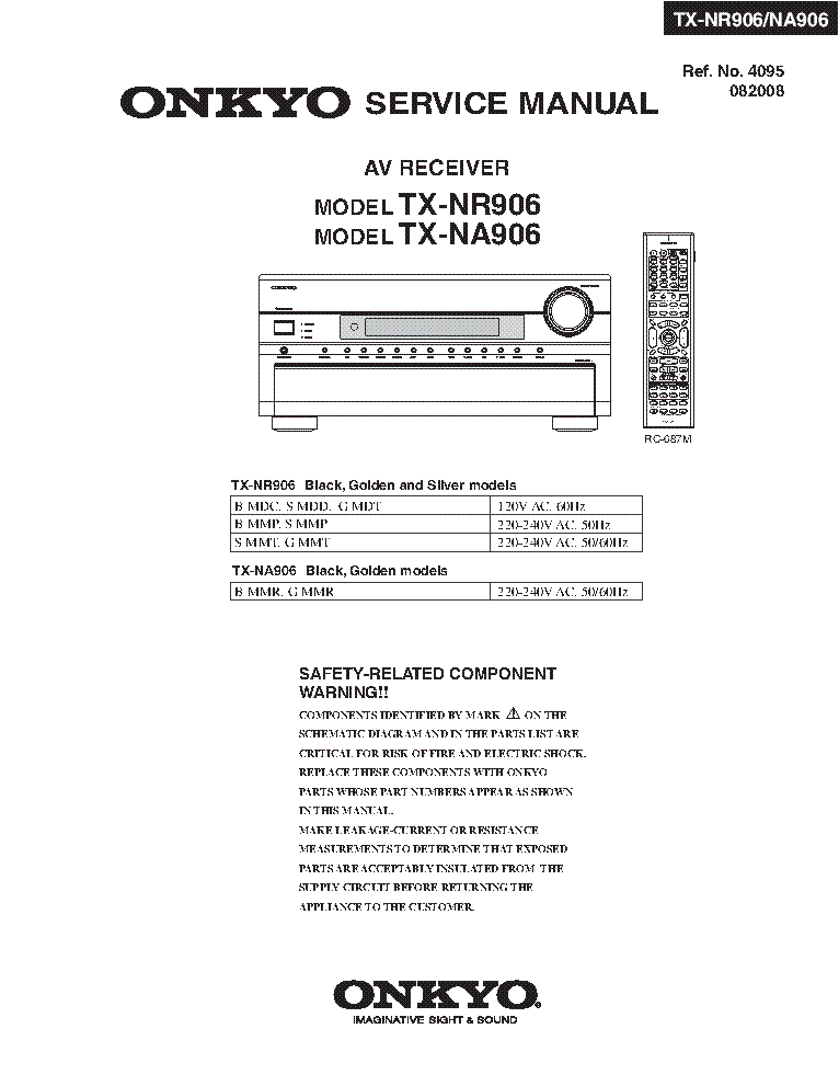 onkyo_tx nr906_na906 sm_rev2 av receiver.pdf_1 onkyo ht r591 sm service manual download, schematics, eeprom  at nearapp.co