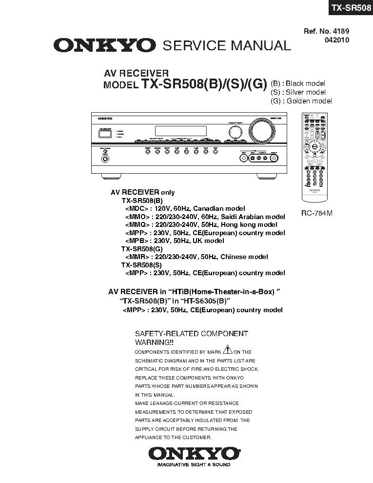 onkyo tx sr508 service manual download schematics eeprom repair rh elektrotanya com onkyo av receiver tx-sr508 manual onkyo tx-sr508 service manual