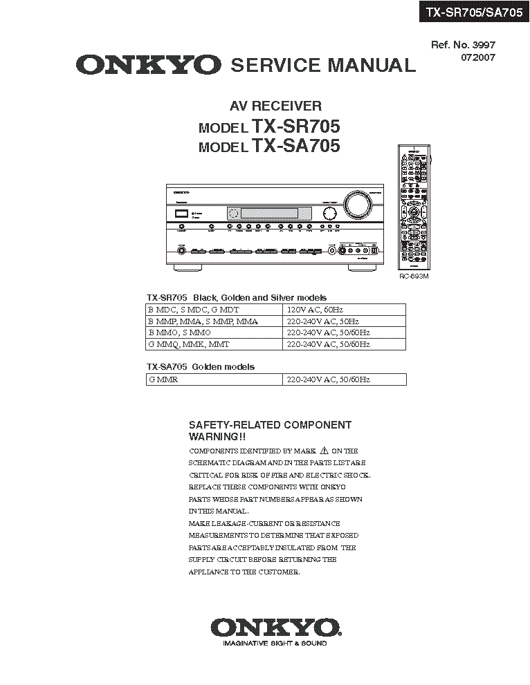 onkyo tx sr705 tx sa705 sm service manual download schematics rh elektrotanya com  onkyo tx-sr705 service manual