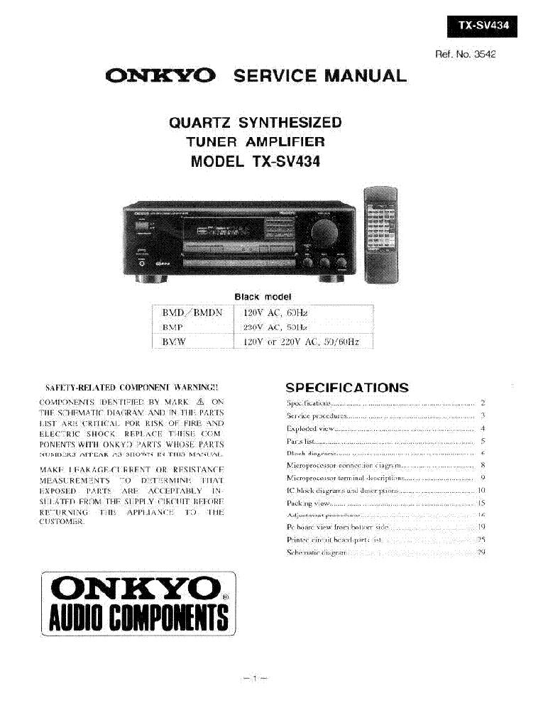 TX-8050 Datasheet