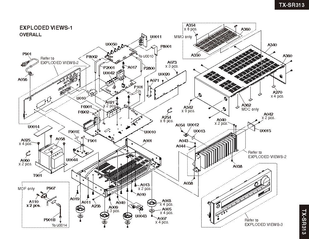 onkyo tx sr313 service manual (2nd page)