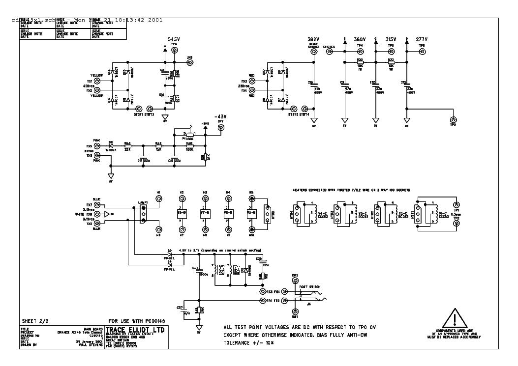 ORANGE AD140 GUITAR AMP Service Manual download, schematics ... on