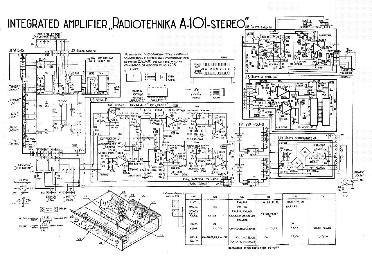 Radiotehnika A101 Amplifier Sch Service Manual Download