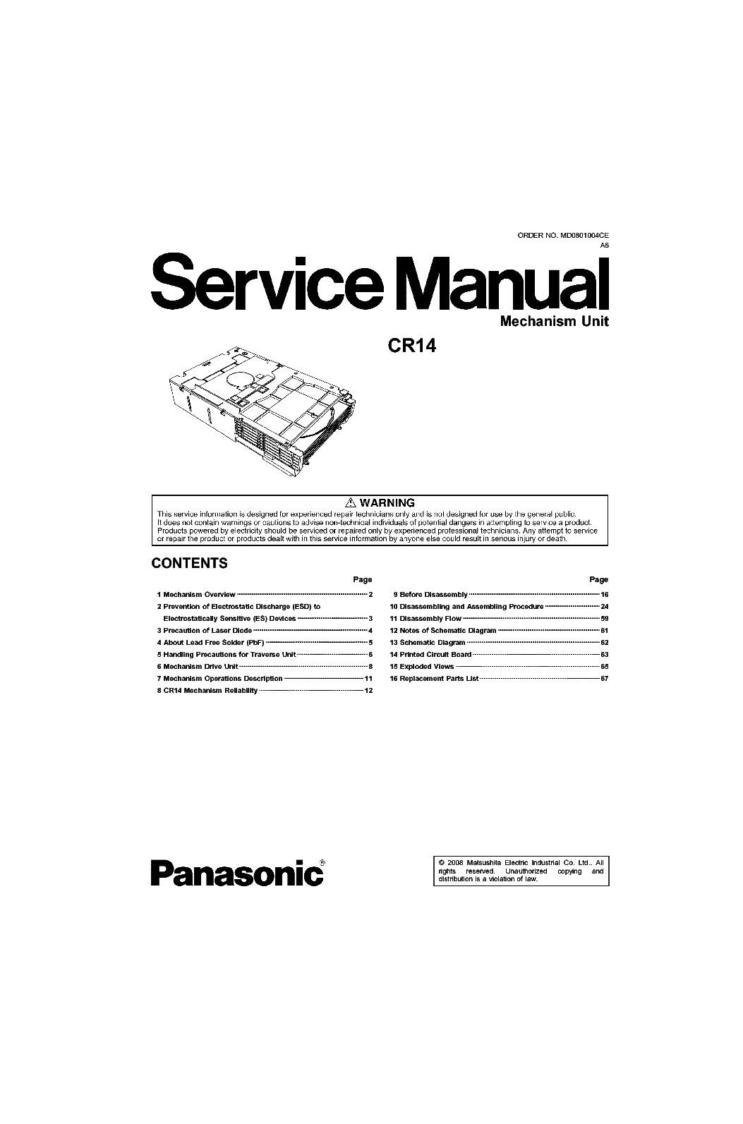 Panasonic Cr