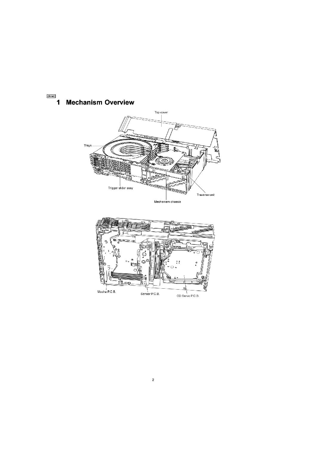 Panasonic Cr14c Cd Changer Mechanism Unit Sm Service Manual Download  Schematics  Eeprom  Repair