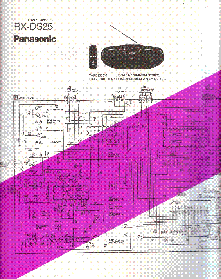 Panasonic rx-ds25 инструкция