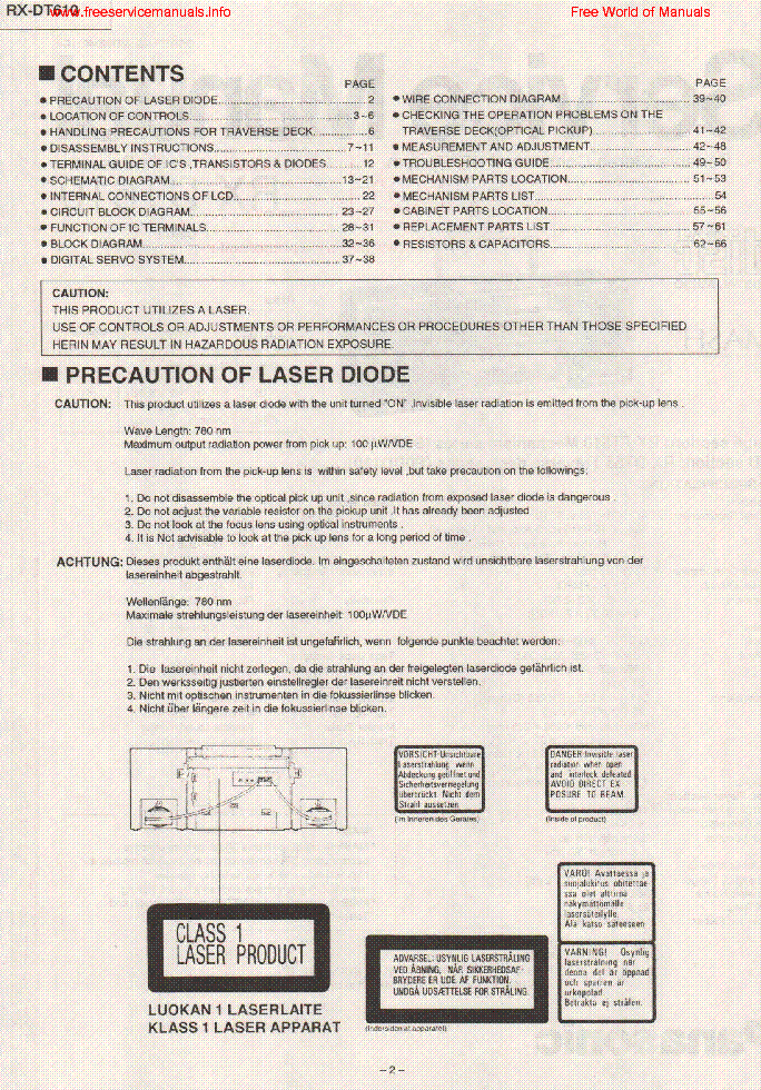PANASONIC RX-DT610 service manual (2nd page)