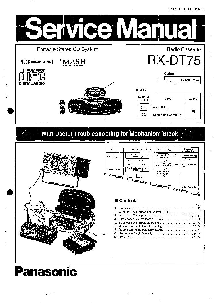 Инструкция на panasonic rx dt75 скачать бесплатно