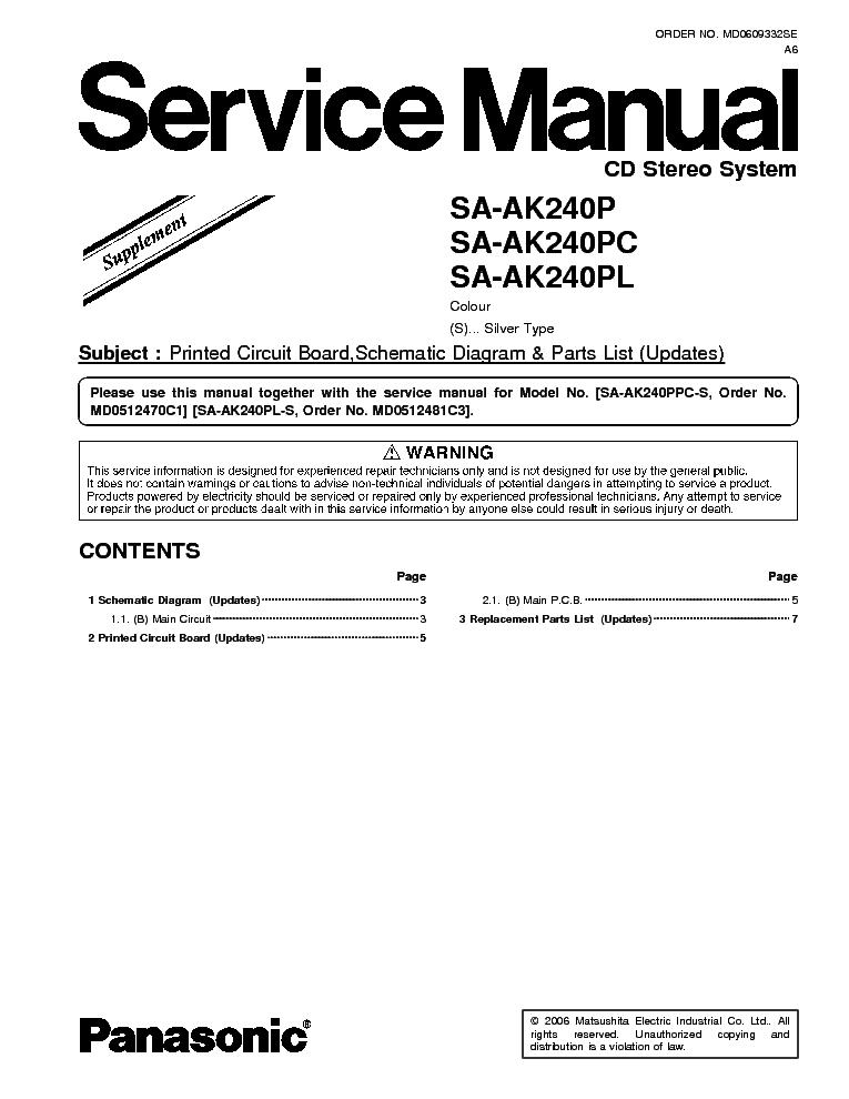 PANASONIC SA-AK240P