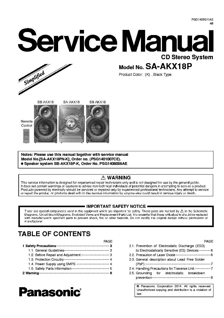 Panasonic Sa Pm22 Sch Service Manual Download  Schematics  Eeprom  Repair Info For Electronics
