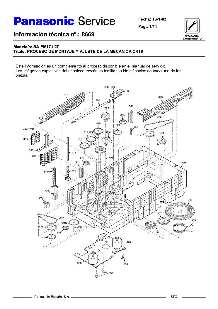 Инструкция Panasonic Sa Pm27 - delovsaite