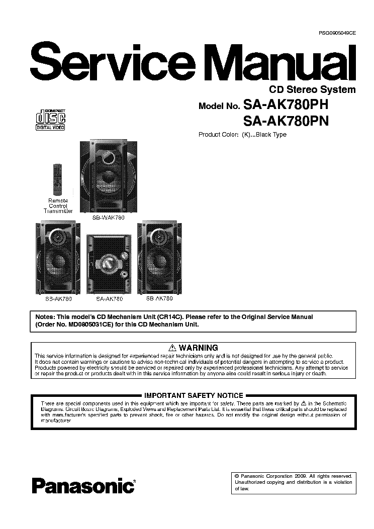 panasonic rx es50 sm service manual download schematics. Black Bedroom Furniture Sets. Home Design Ideas