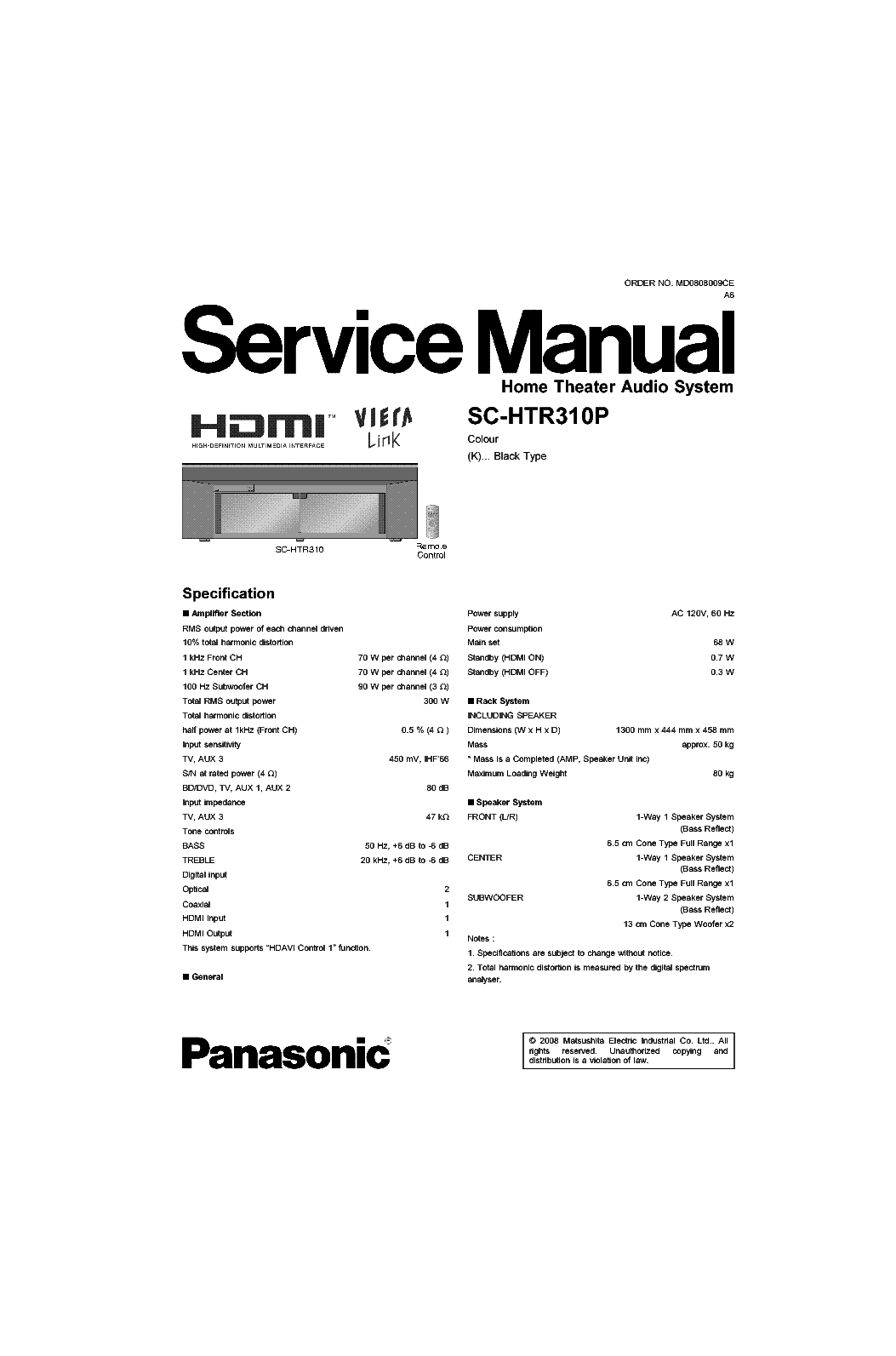 panasonic sc htr 310 p service manual download schematics. Black Bedroom Furniture Sets. Home Design Ideas