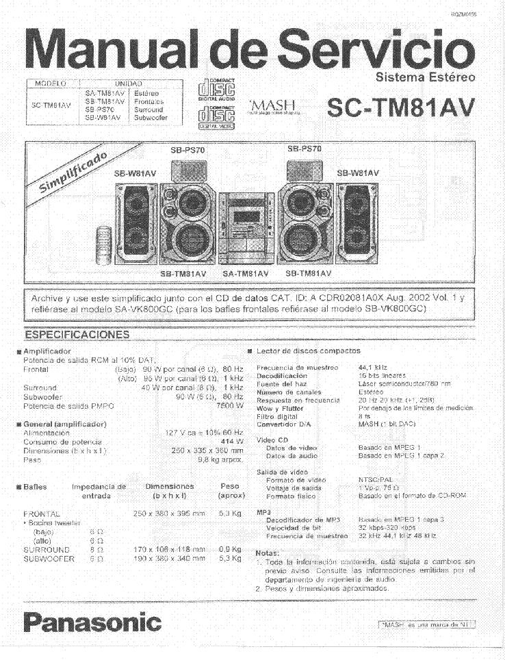 panasonic sa vk31ee service manual download schematics. Black Bedroom Furniture Sets. Home Design Ideas