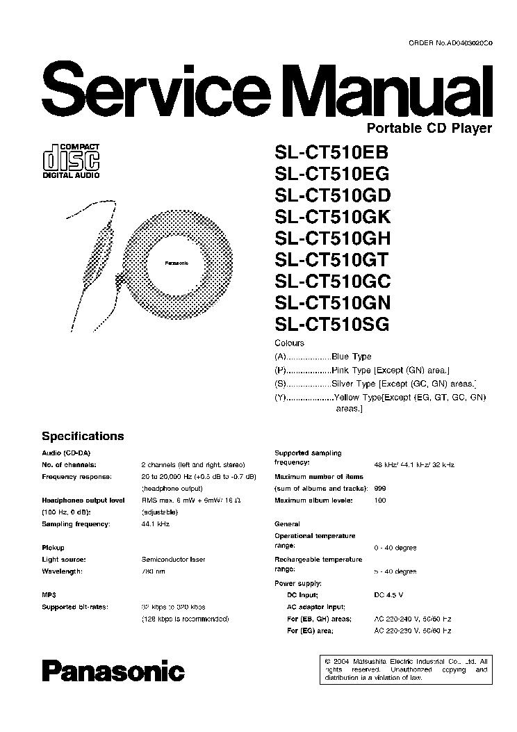 PANASONIC SL-CT510EB