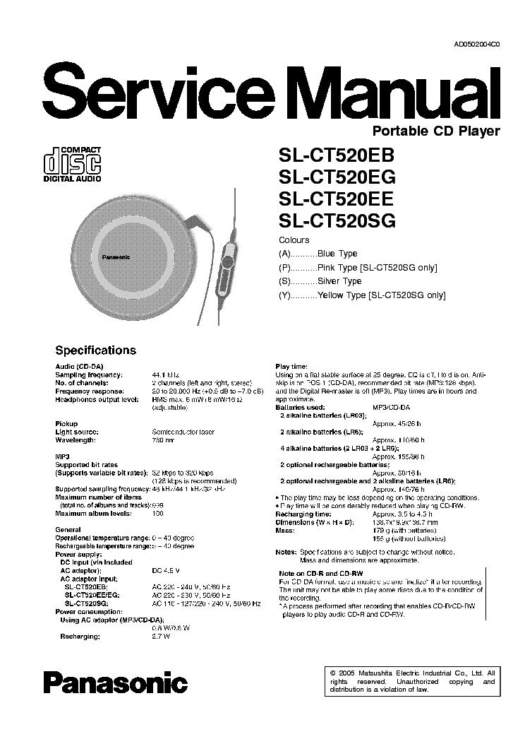 PANASONIC SL-CT520EB