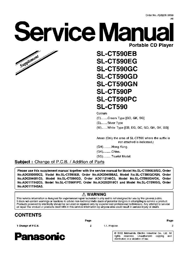PANASONIC SL-CT590EB