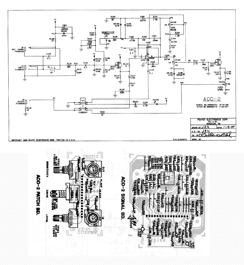 peavey xm6 300eh module sch service manual free download
