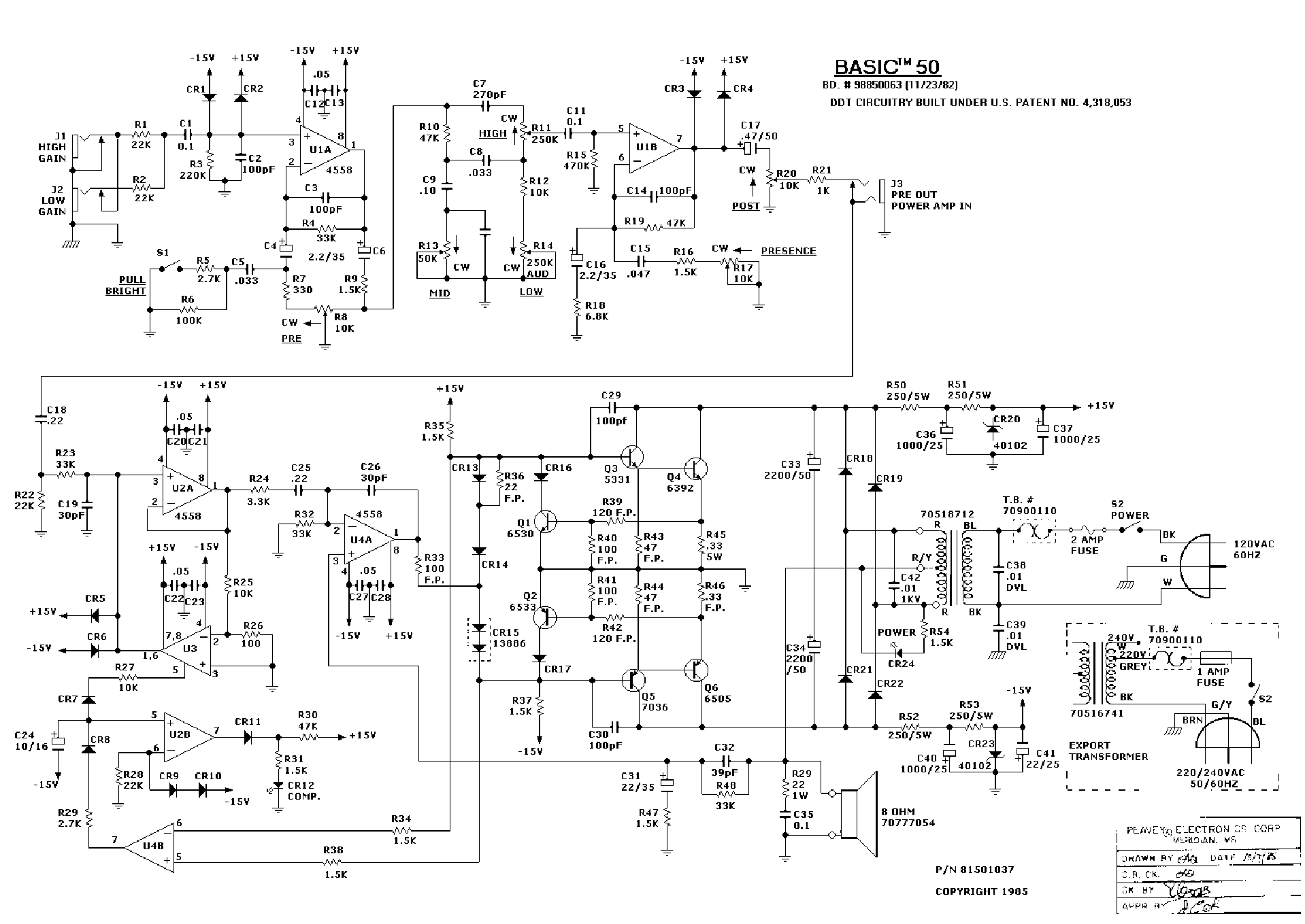 Peavey 115h Monitor Wiring Diagram - Residential Electrical Symbols •