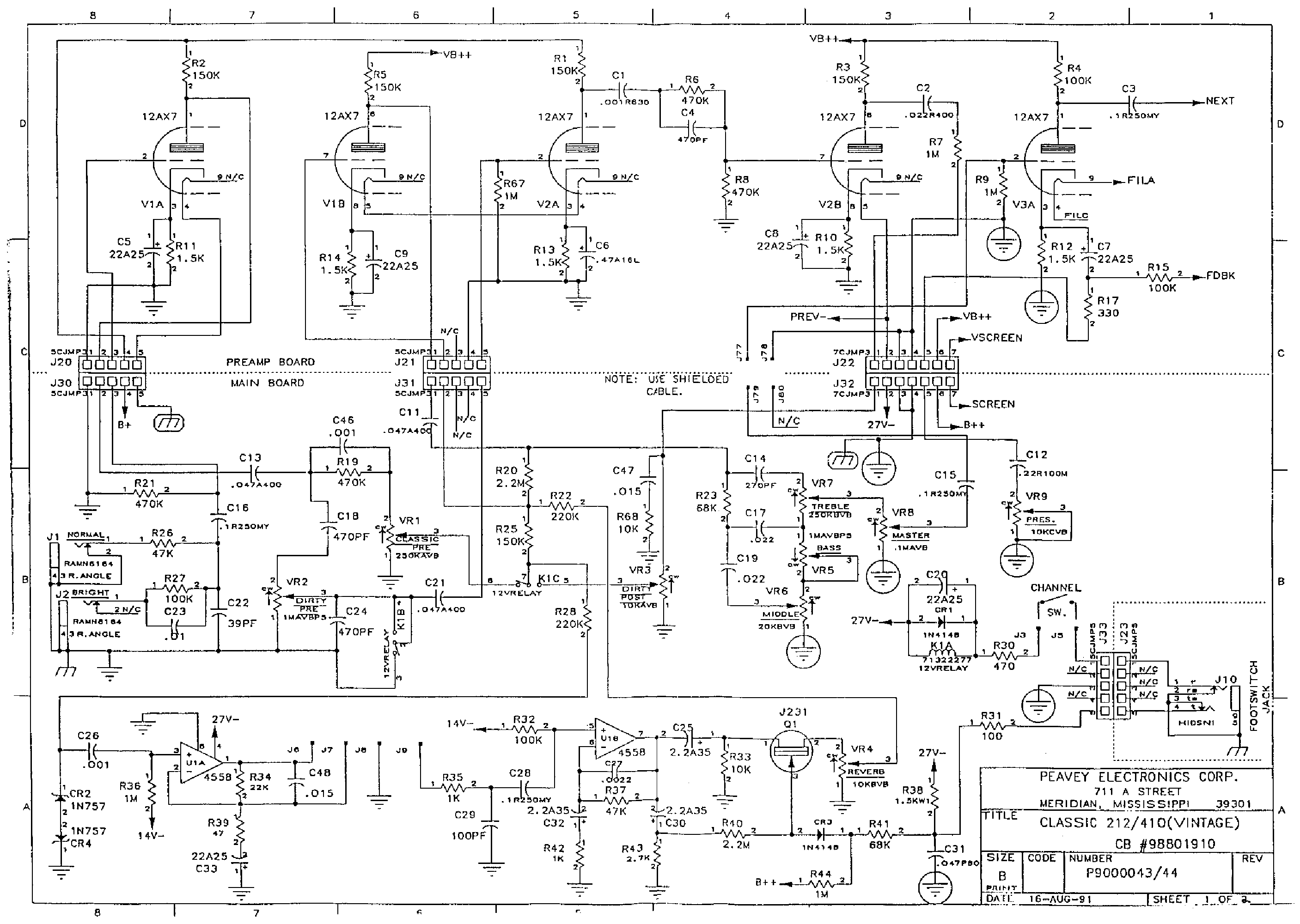 footswitch schematic wiring diagrams