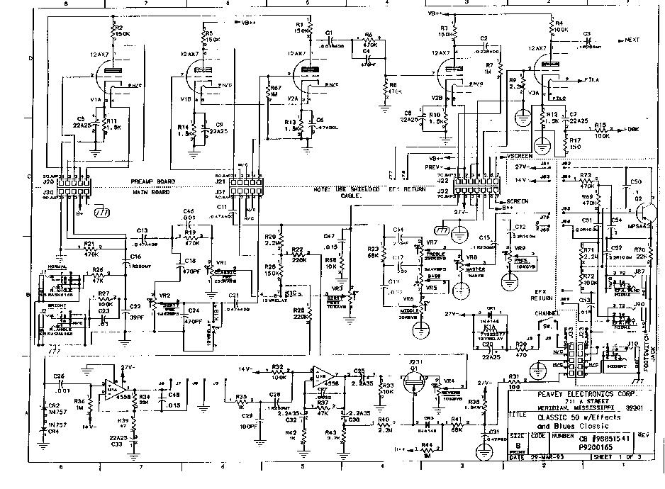 peavey classic 50 sch service manual download  schematics
