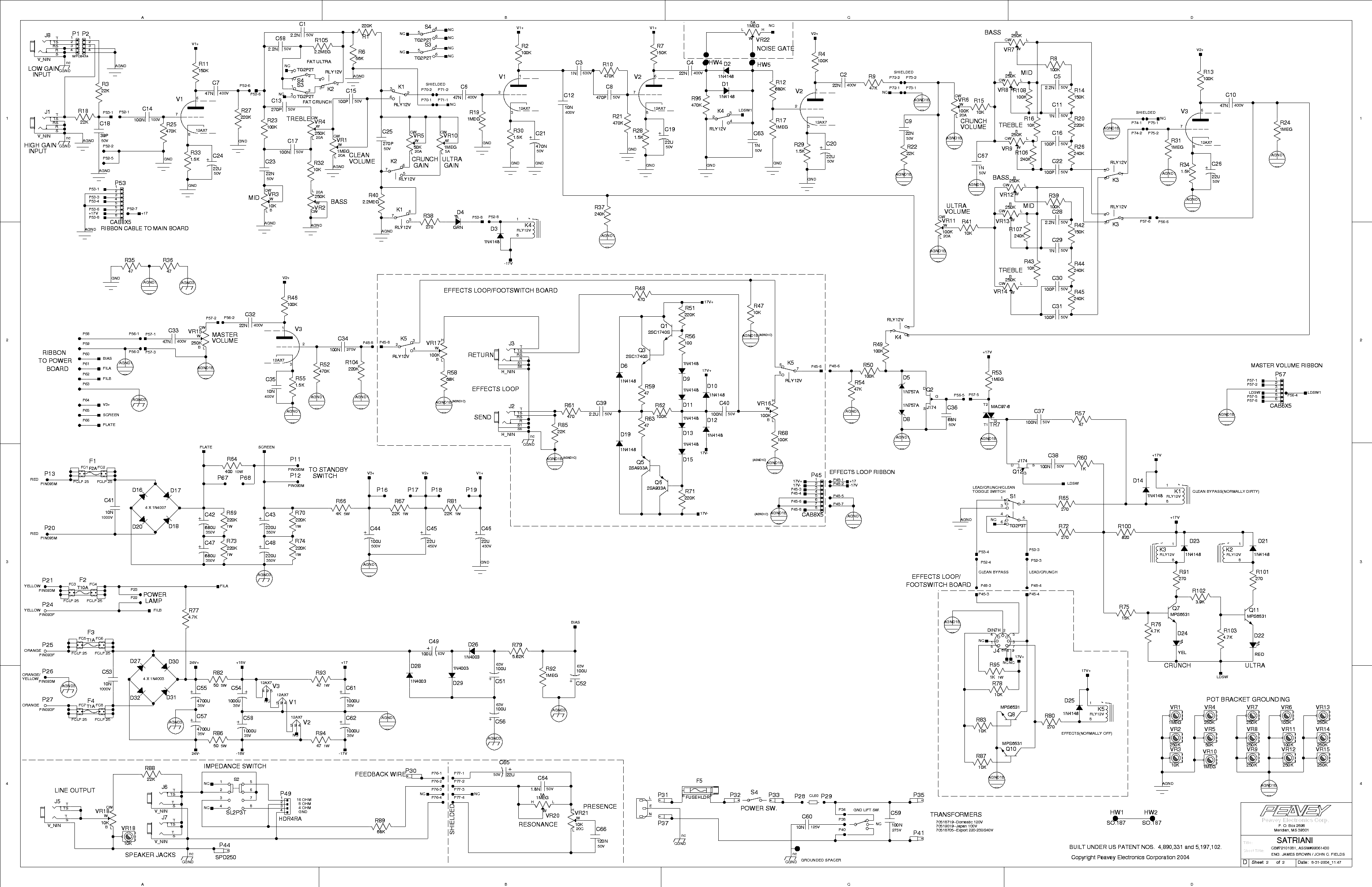 black forest high gain preamp - based on the bogner uberschall  bogner schematic