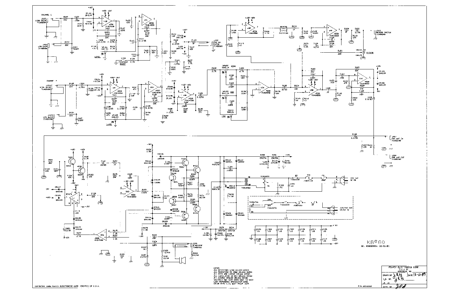 peavey t60 wiring diagram Schematics and Wiring Diagrams – Peavey T 60 Wiring Diagram