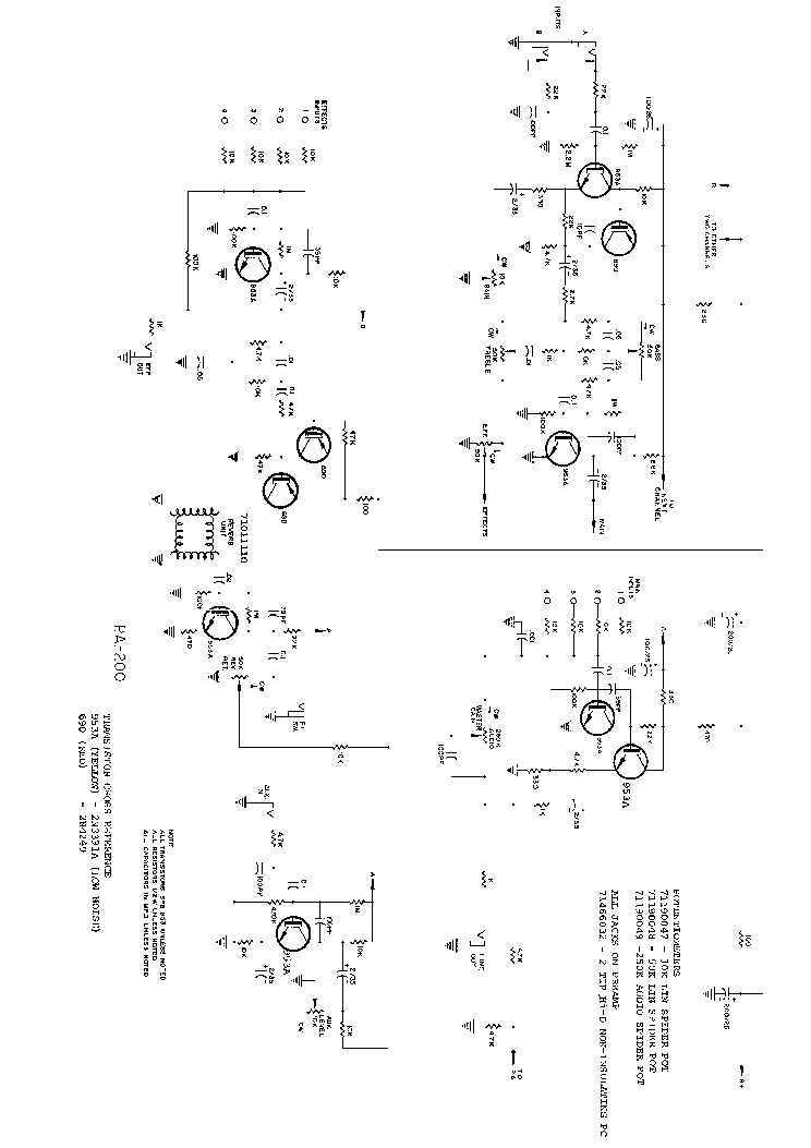 Peavey Pa200 Sch Service Manual Download  Schematics