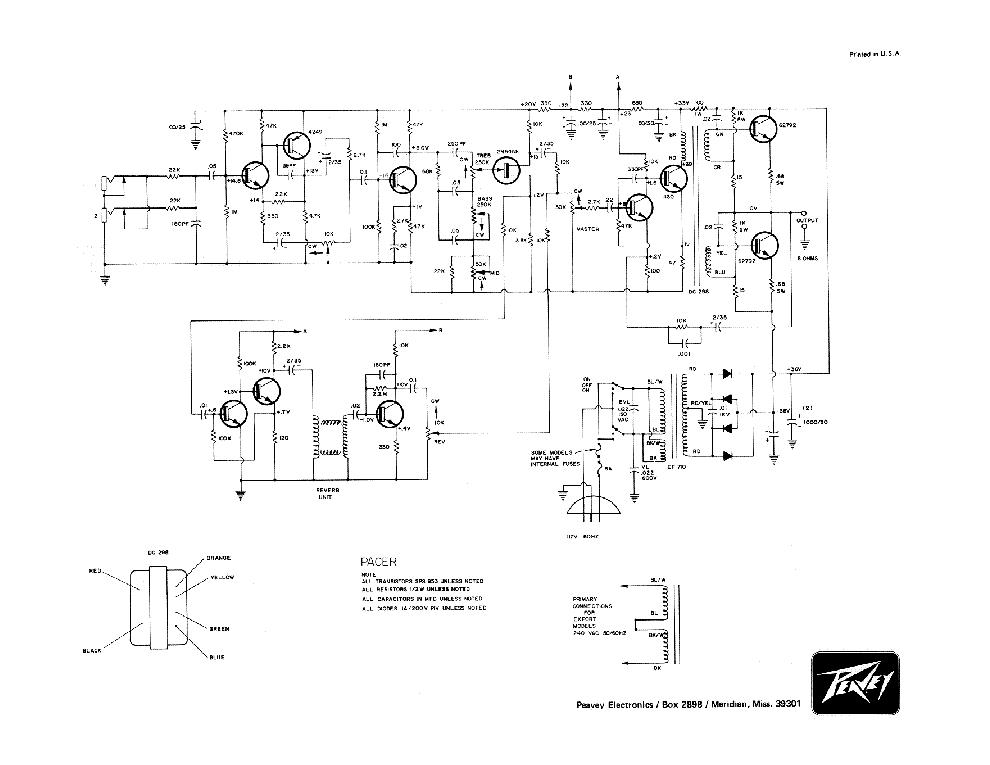 PEAVEY BANDIT 112 SERVICE MANUAL Service Manual download, schematics
