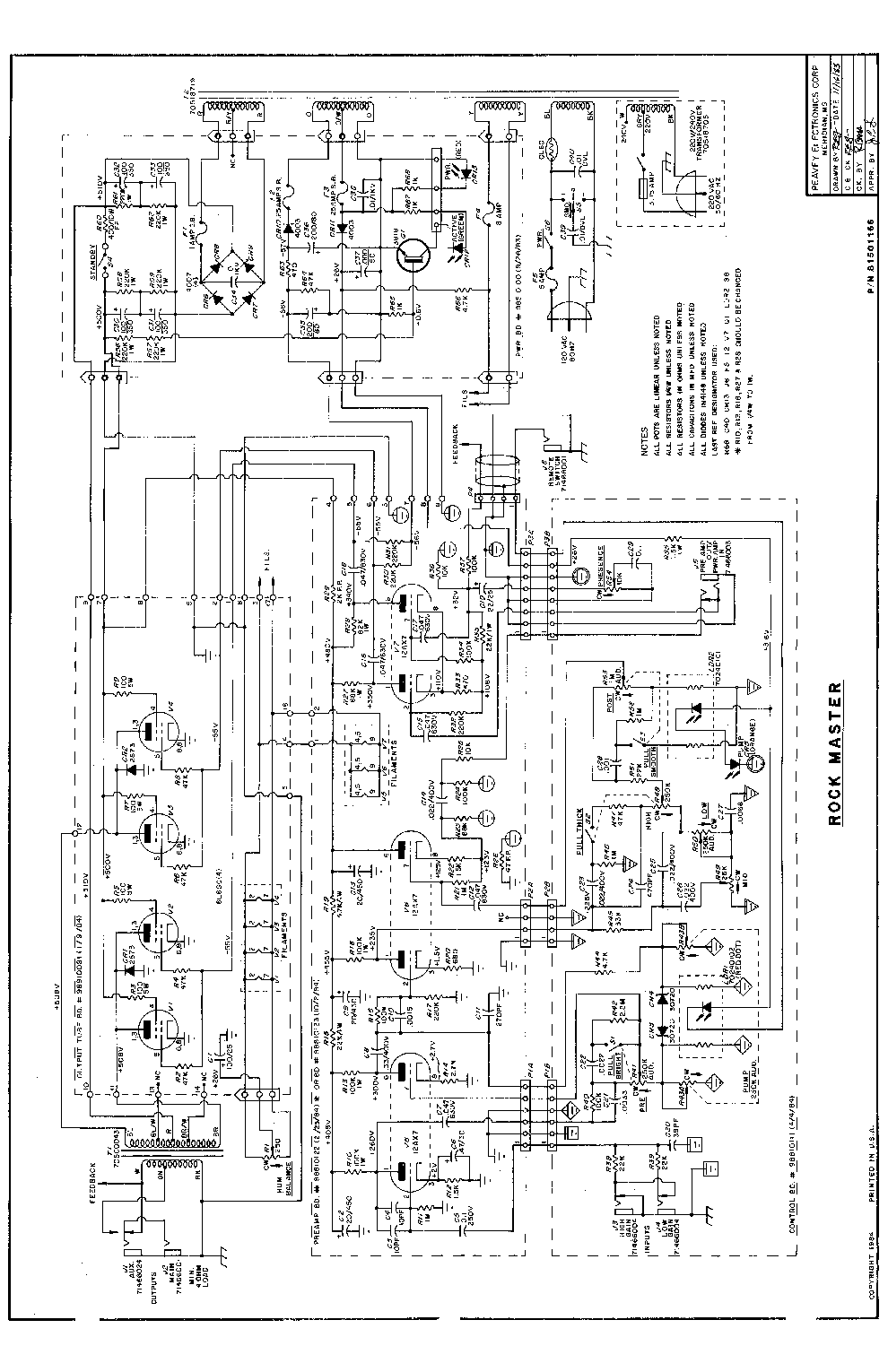 peavey rock master service manual download  schematics