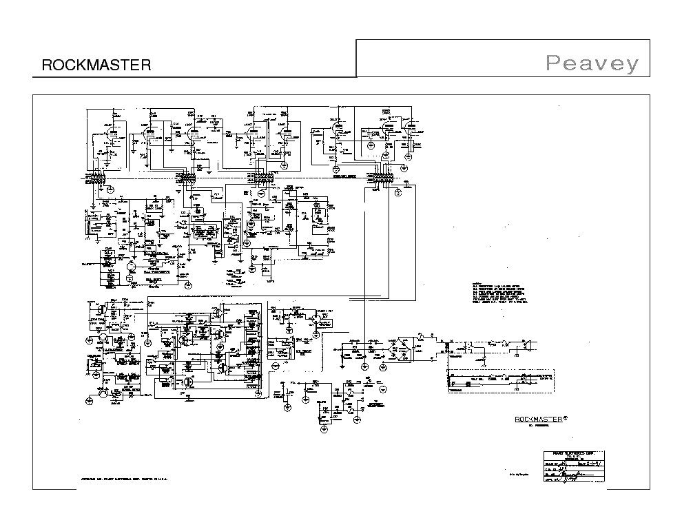 PEAVEY MIXER PV10 PV14 SCHEMATIC Service Manual download, schematics