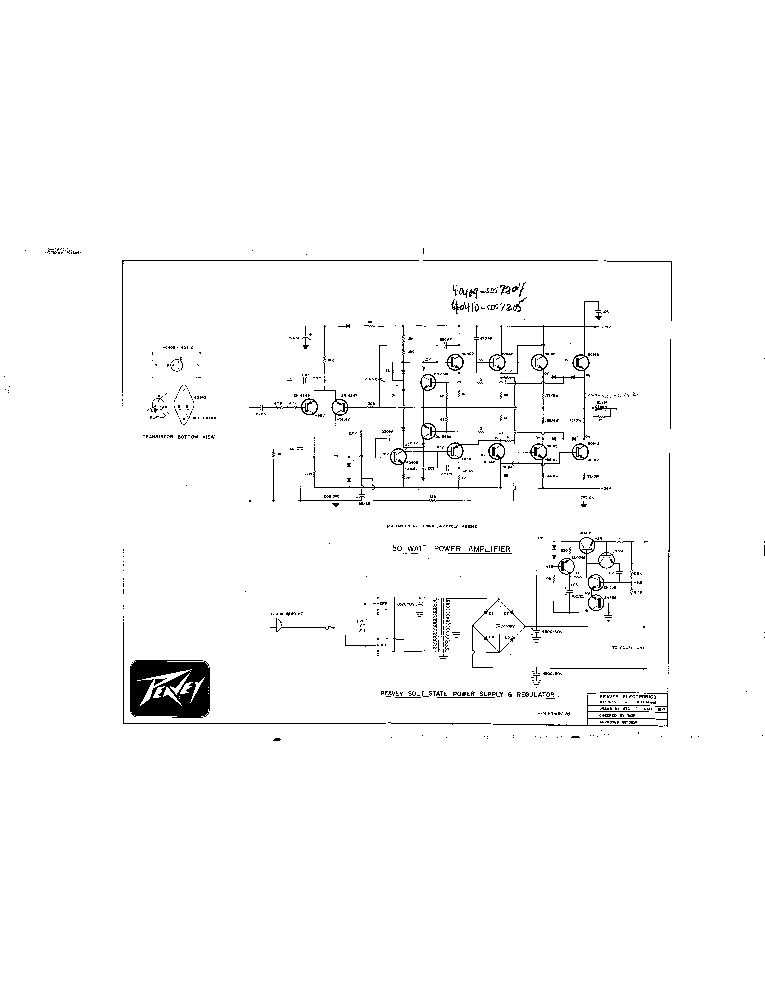 PEAVEY SERIES-300 150W SCH Service Manual download, schematics ...