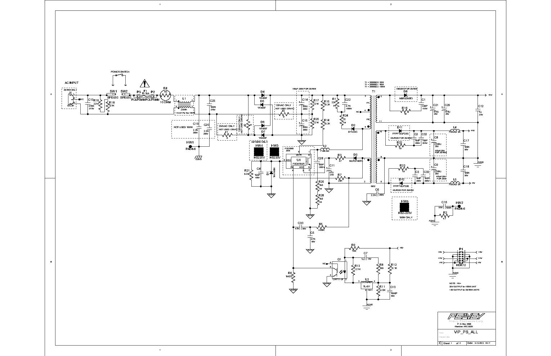 PEAVEY 400BH Service Manual download, schematics, eeprom, repair