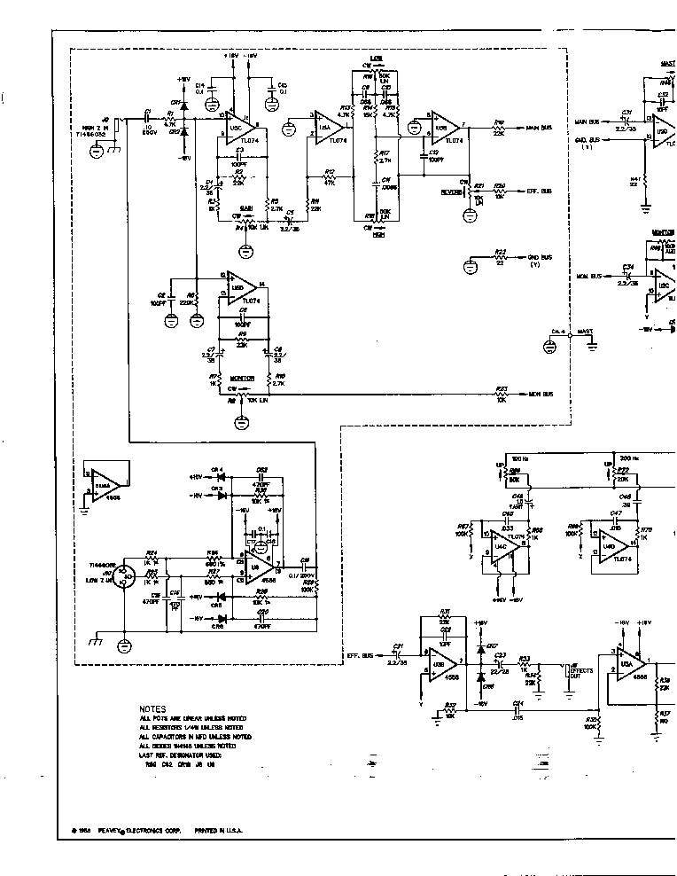 peavey wiring diagrams