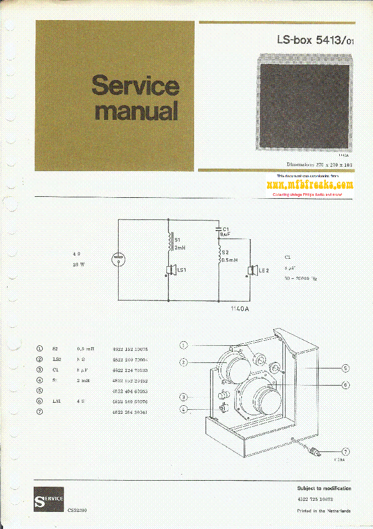 PHILIPS 22RH413 LS BOX-5413 SM service manual (1st page)